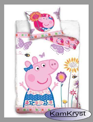 Również dla sympatyków Świnki Peppy mamy przyjemność zaprezentować nowe wzory pościeli z małą, uroczą Świnką