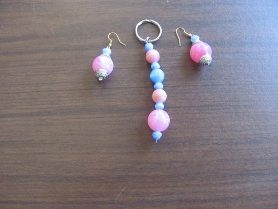 Earrings with matching keychain by StudentShop13 on Etsy