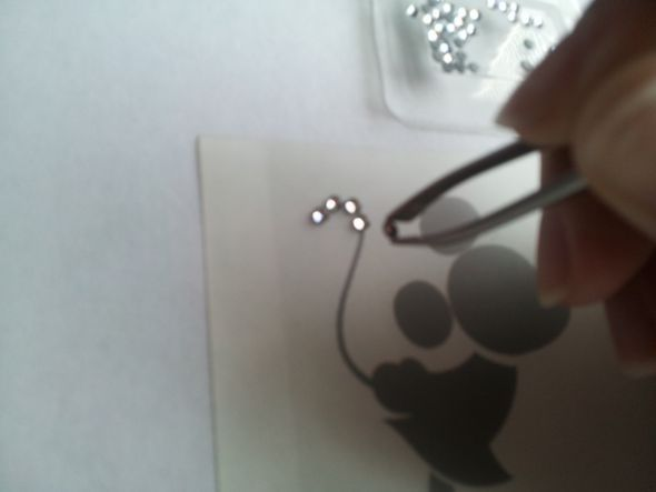 how cool is this..diy rhinestone iron ons
