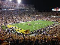 LSU Tigers football- Death Valley on Saturday Night.
