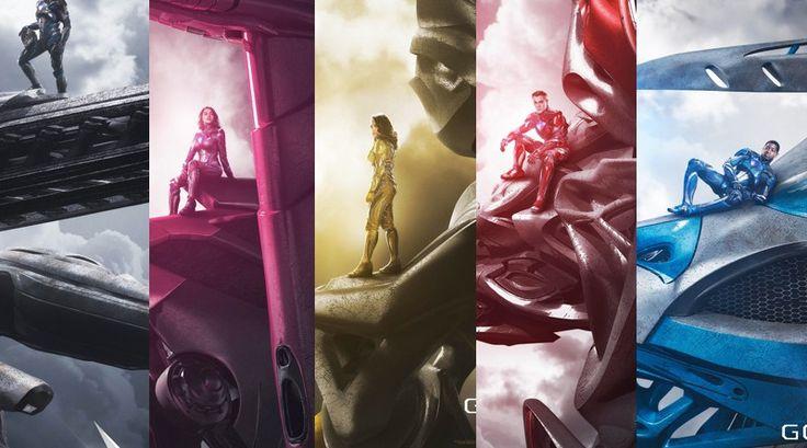 Nuevos poster revelan primer vistazo a los Zords de los Power Rangers