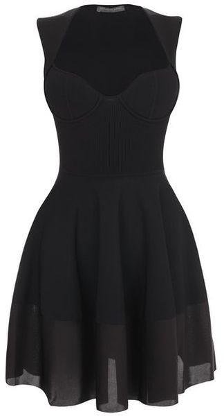 Exposed Bustier Mini Dress - Lyst