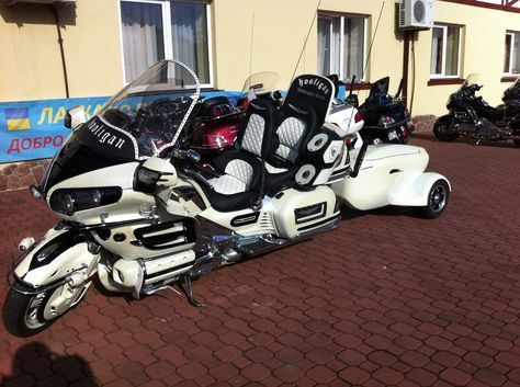 """This goes out to all those who believe that adding a trike kit to a stock two-wheeler is too much. Well, I hope that your """"too much""""notion will be forever changed as you see this amazing creation, courtesy of Kiev-based Ukrainian Hooligans Customs."""