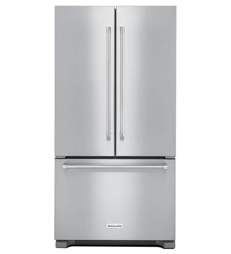 22 cu. ft. 36-Inch Width Counter Depth French Door Refrigerator with Interior Dispense - KitchenAid KRFC302ESS