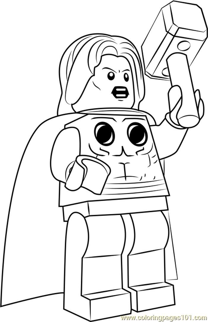 Lego Thor Coloring Page Hulk Coloring Pages Batman Coloring Pages Superman Coloring Pages