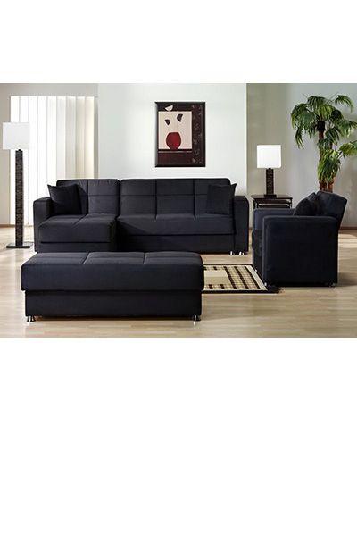 Black Sectional Sofa Microfiber Part 48