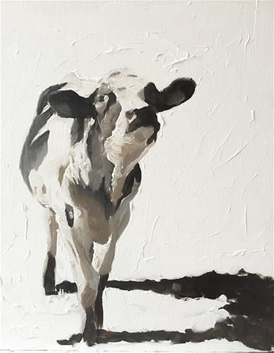 "Daily Paintworks - ""A Cow"" - Original Fine Art for Sale - © James Coates"