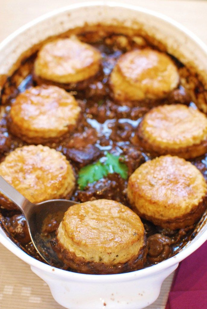 Feeling adventurous? Try this English winter warmer recipe for Winter Lamb Cobbler. #TreatYourself!  #CrockPot