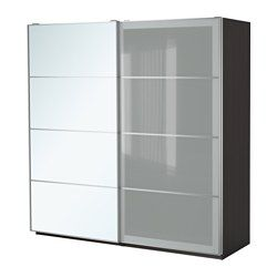 "PAX Wardrobe, black-brown, Auli Sekken - 78 3/4x26x93 1/8 "" - soft closing damper - IKEA"