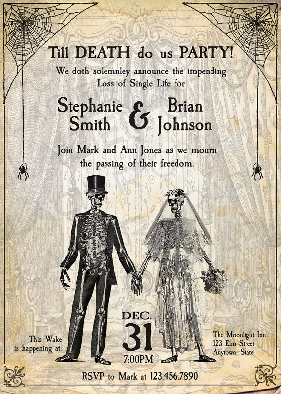 24 best Vintage invitations images – Halloween Wedding Reception Invitations