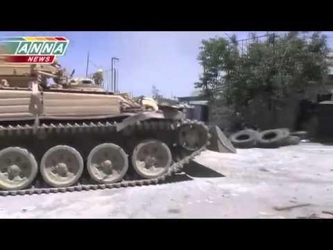 War in IRAQ & Syria 2014 / Battle for Jobar Part 2  Tanks go into battle.