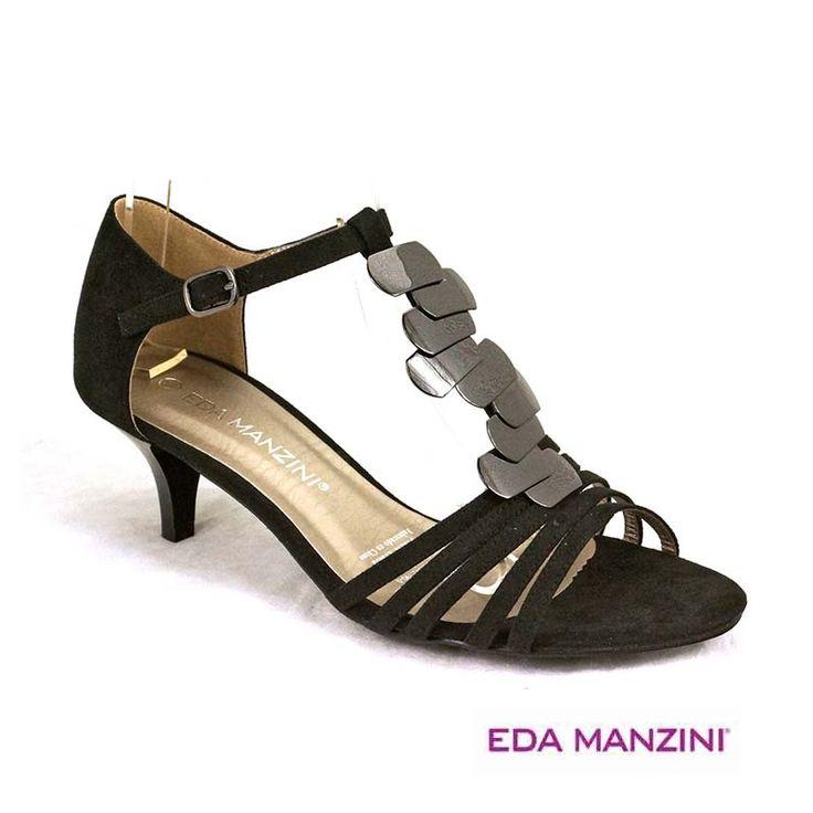 Sandalia negra de fiesta