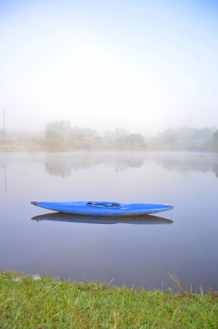 Reflections on a misty morning at Uplands by Rosemary Hall
