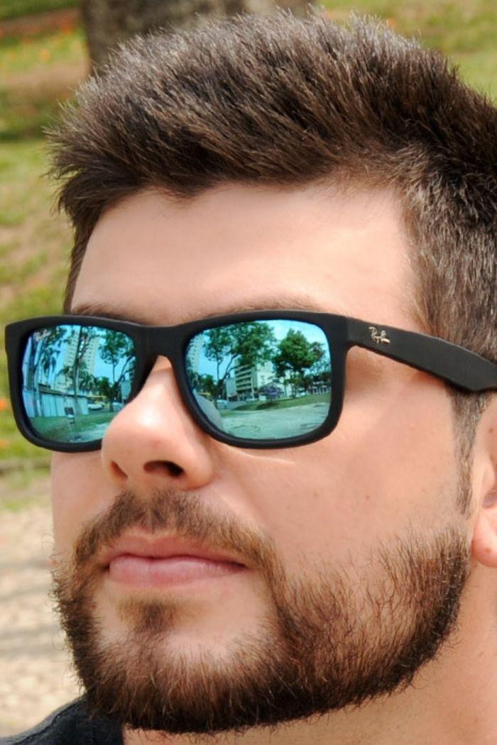 Oculos De Sol Ray Ban Justin Lentes Pretas Polarizadas 3 Cores