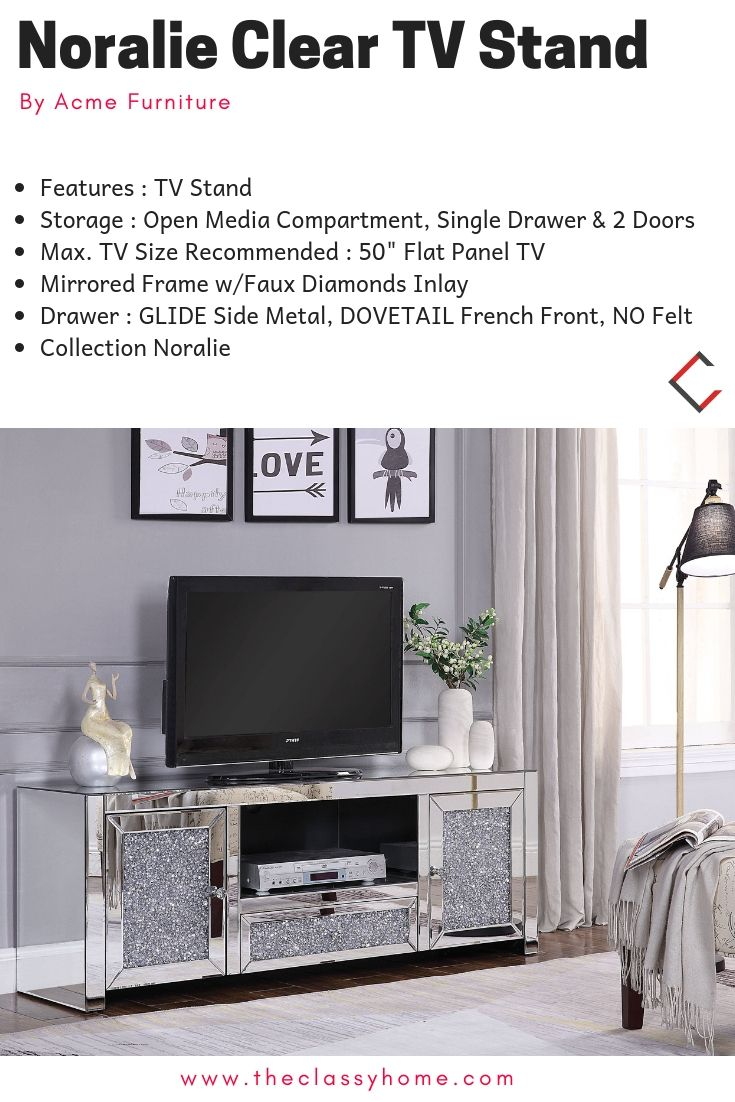 Acme Furniture Noralie Clear Tv Stand In 2018 The Classy Home