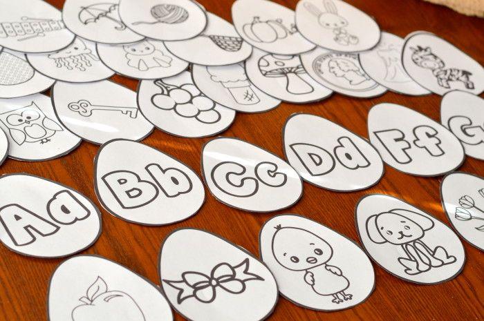 Easter Egg Printable Alphabet Beginning Letter Matching Game