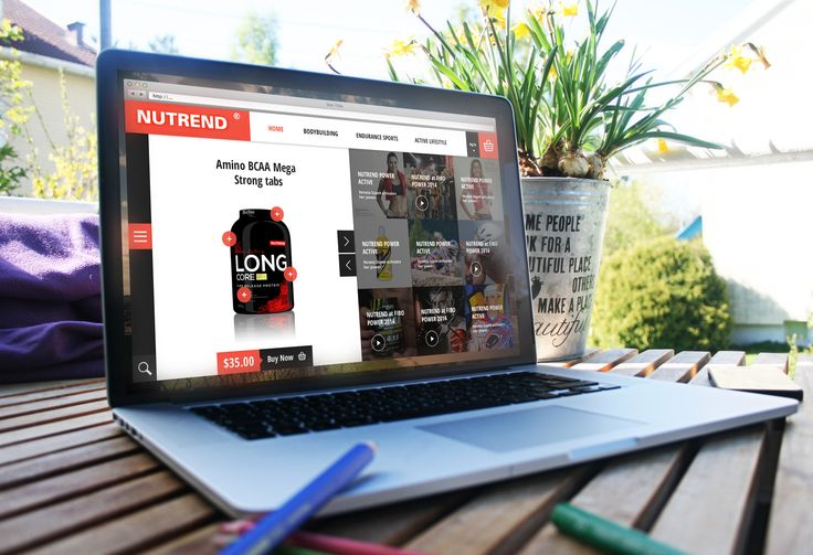 Разработка сайта кампании Nutrend