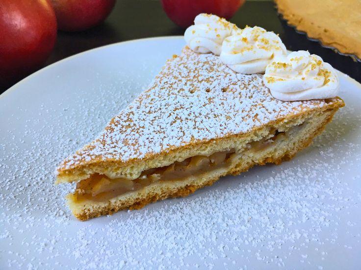 Ciasto jabłkowe na kruchym spodzie