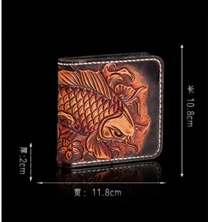 Fish Design Genuine Leather Wallet