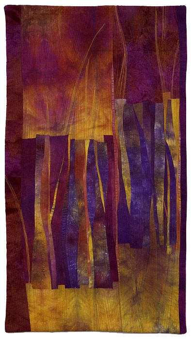 Chasms 15 quilt by Beth Carney, 2013. Hand-dyed cotton, machine pieced and quilt…