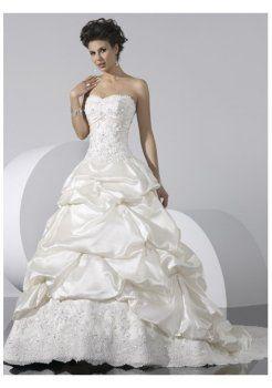 Con abiti da sposa senza spalline chiusura corsetto