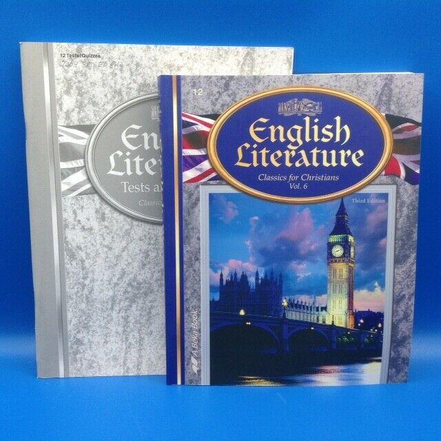 Abeka English Literature W Tests 3rd Ed 12th Homeschool School