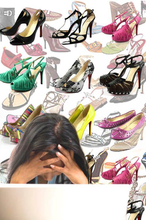 Kesulitan saat memilih sepatu adalah gejala wanita normal