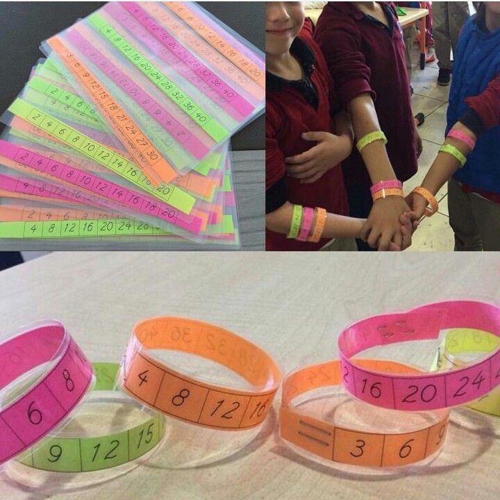 Make bracelets for students to wear for skip counting.