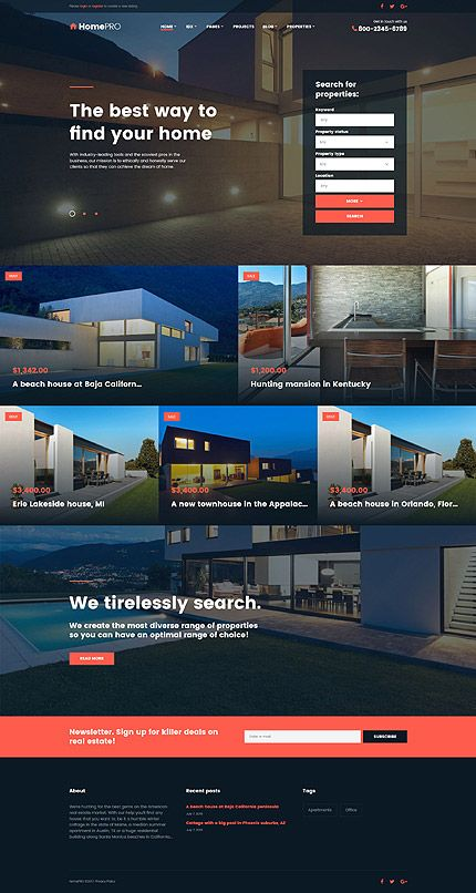 Real Estate website inspirations at your coffee break? Browse for more Bootstrap #templates! // Regular price: $75 // Sources available: .HTML,  .PSD #Real Estate #Bootstrap