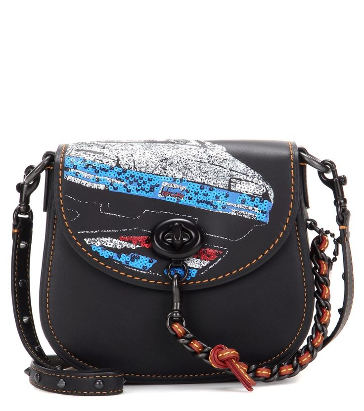 Coach - Borsa a tracolla in pelle con paillettes -  seen @ www.mytheresa.com