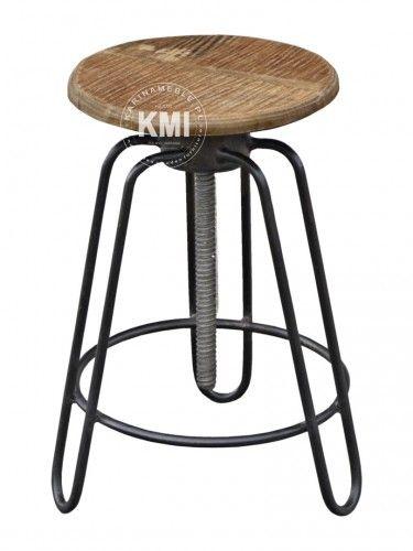 meble industrialne |  stołek loftowy Screw