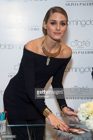 Olivia Palermo attends the Ciate London collection launch at Bloomingdale's on November 5, 2015 in New York City.