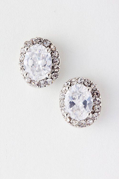 CZ Anna Earrings on Emma Stine Limited