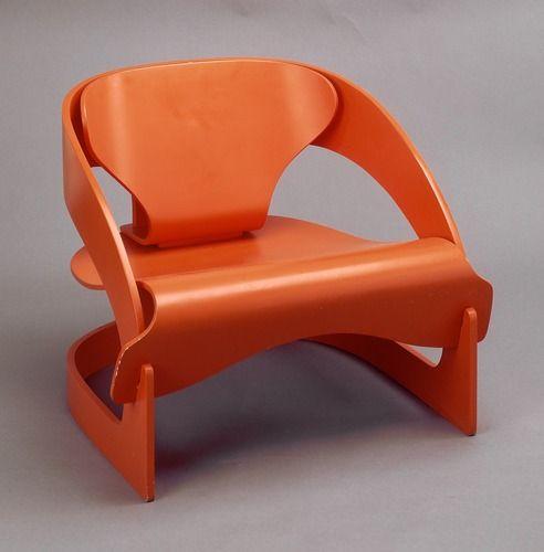 joe colombo, fauteuil 4801, 1963-1964