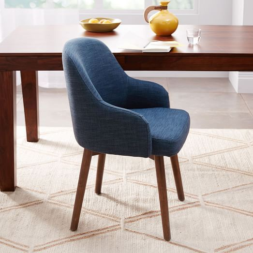 Saddle Dining Chairs | west elm Ryan has these as dining chairs - comfortable but small.