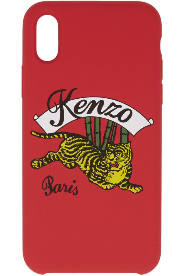 7d3d9323c6 Kenzo - Red Jumping Tiger iPhone X Case | Accessories/Misc. Other ...
