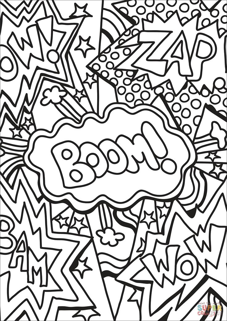 Zap Boom Wow coloring page | Free Printable Coloring Pages ...