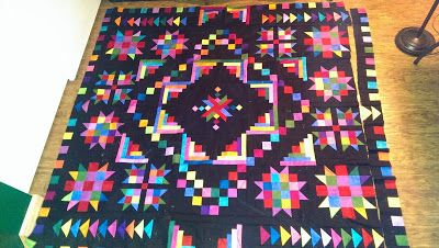Kaleidescope of Kolor, 35th Ave. BOM from 2014, needs border fixed and quilted