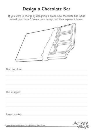Design a Chocolate Bar 2 Roald Dahl printables
