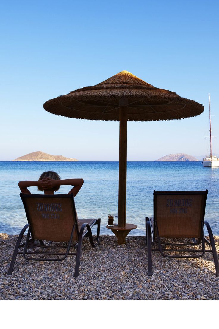 Kicking back on the shore on Leros, a serene little-visited island in the Dodecanese, Greece // photo by Matt Munro #leros #dodecanese #greece #sea