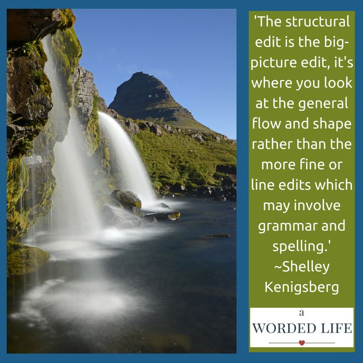 Structural or development  editing is big picture editing. http://awordedlife.com/services