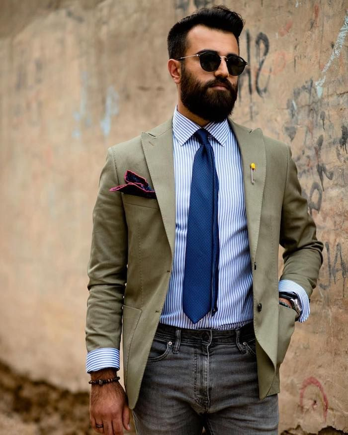 hipster bart ideen von den gentlemen club der gut angezogenen männer blazer armband ausgetragene jeans ideen brille bart