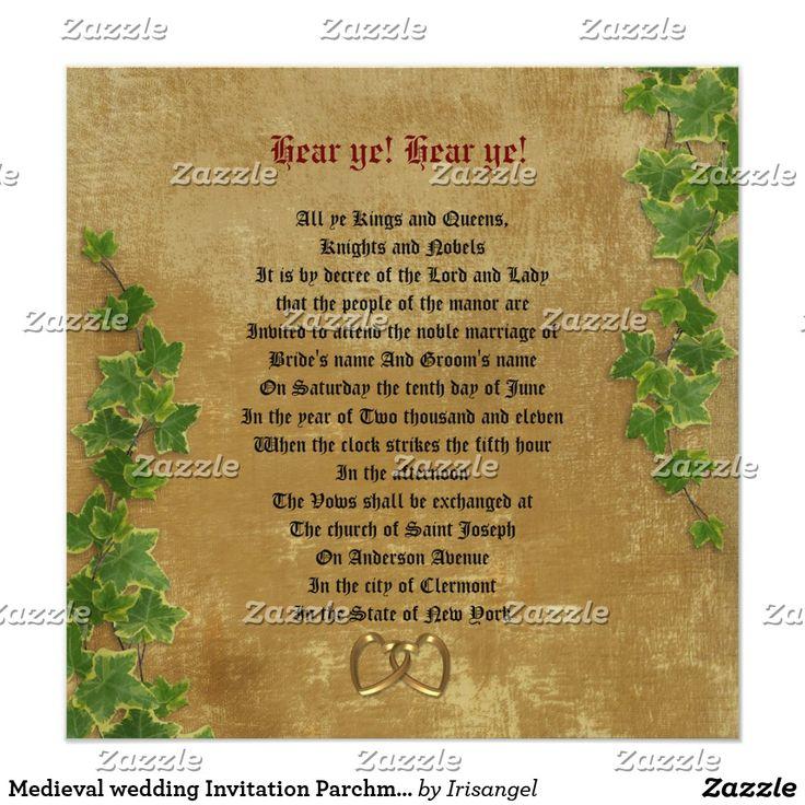 zazzle wedding invitations promo code%0A Medieval wedding Invitation Parchmentlook