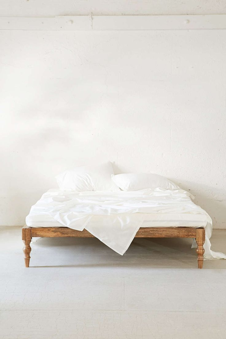 Magical Thinking Bohemian Platform Bed  Ayup. With a big, squishy mattress pad.. I'm talking serious - likie at least 15 inches deep. *FLOOF*