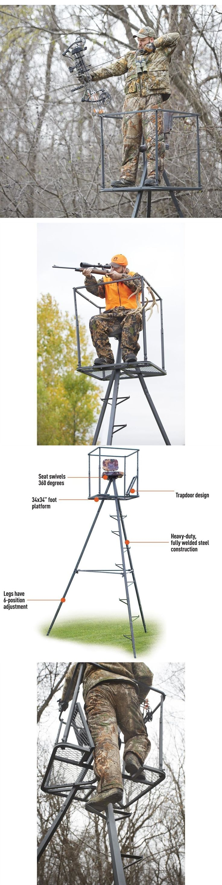 Tree Stands 52508: Tripod Deer Stands 13 Foot Hunting Big Game Hunter Ladder Shooting Tree Blind -> BUY IT NOW ONLY: $219.5 on eBay!