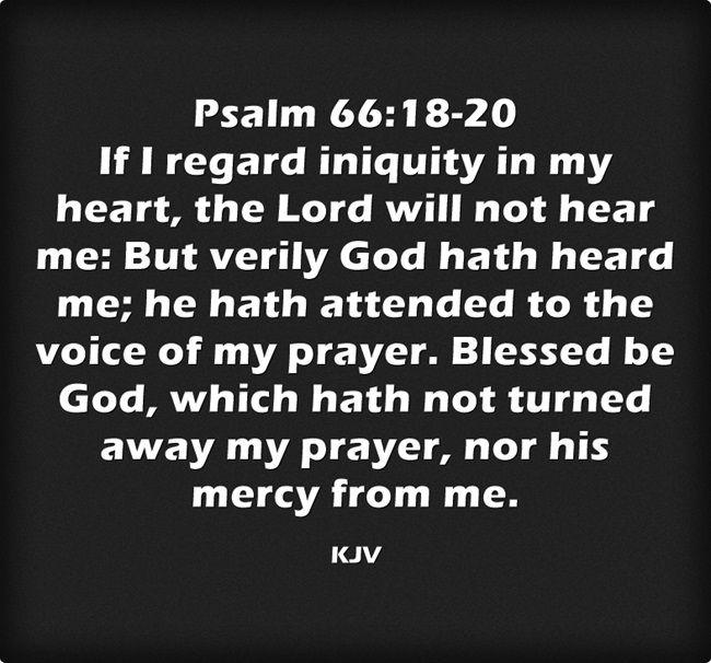 Psalm 66:18-20 King James KJV