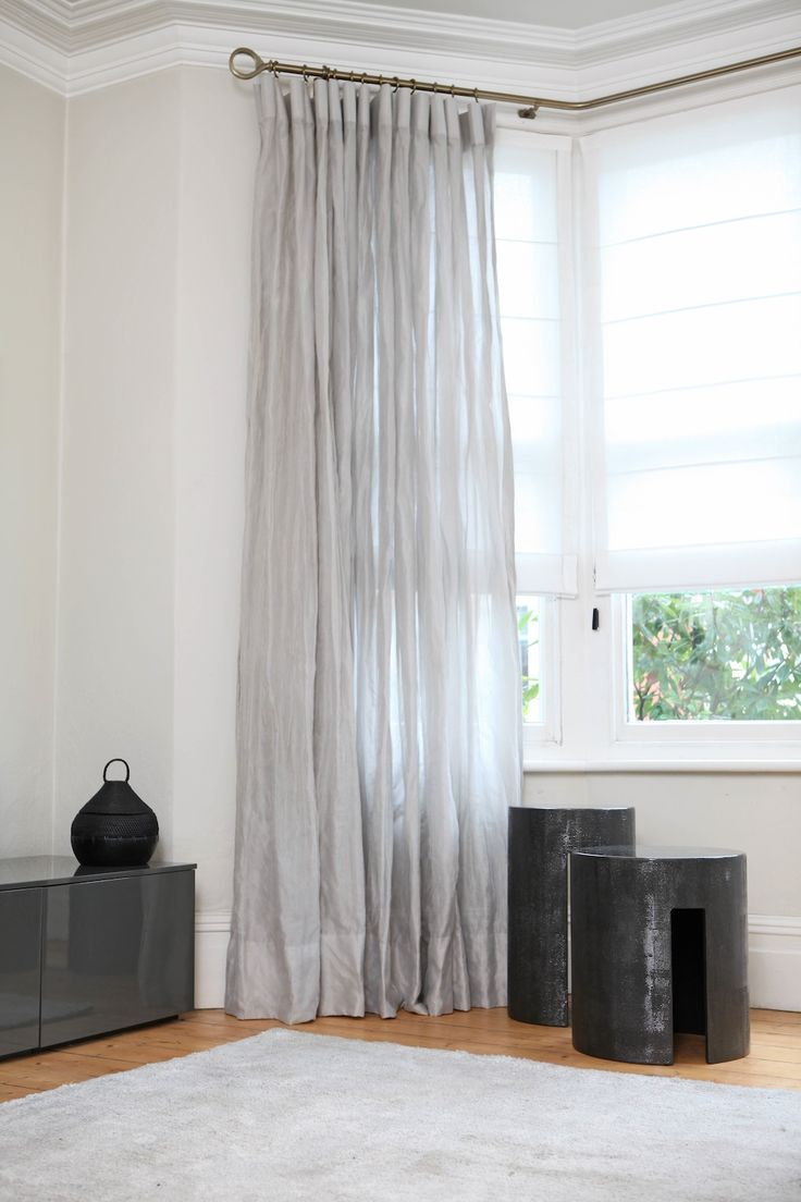 Silver sheers with fabric from #Kinnasand from the Modern Curtain Co #curtains