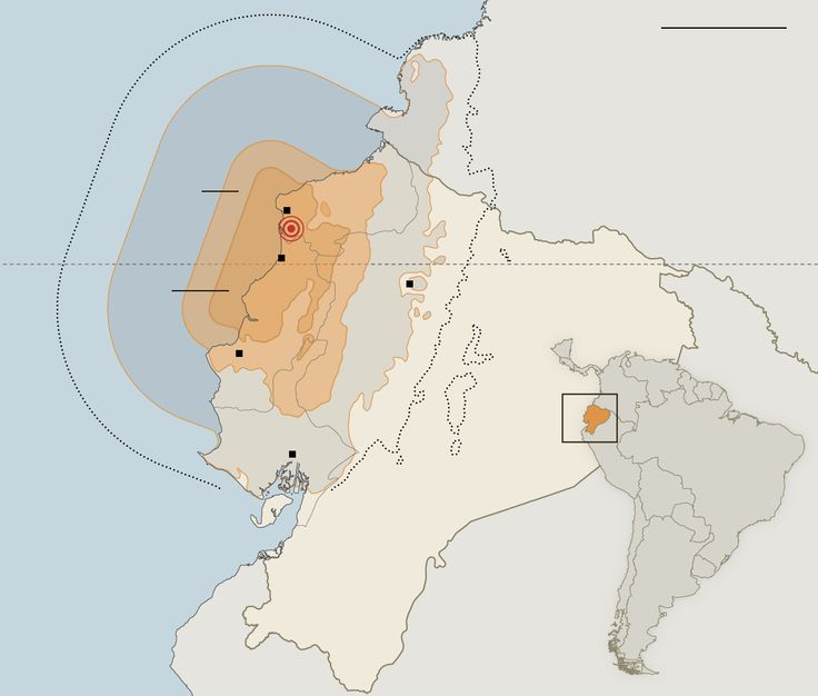 Earthquake Leaves a Trail of Destruction in Ecuador - The New York Times