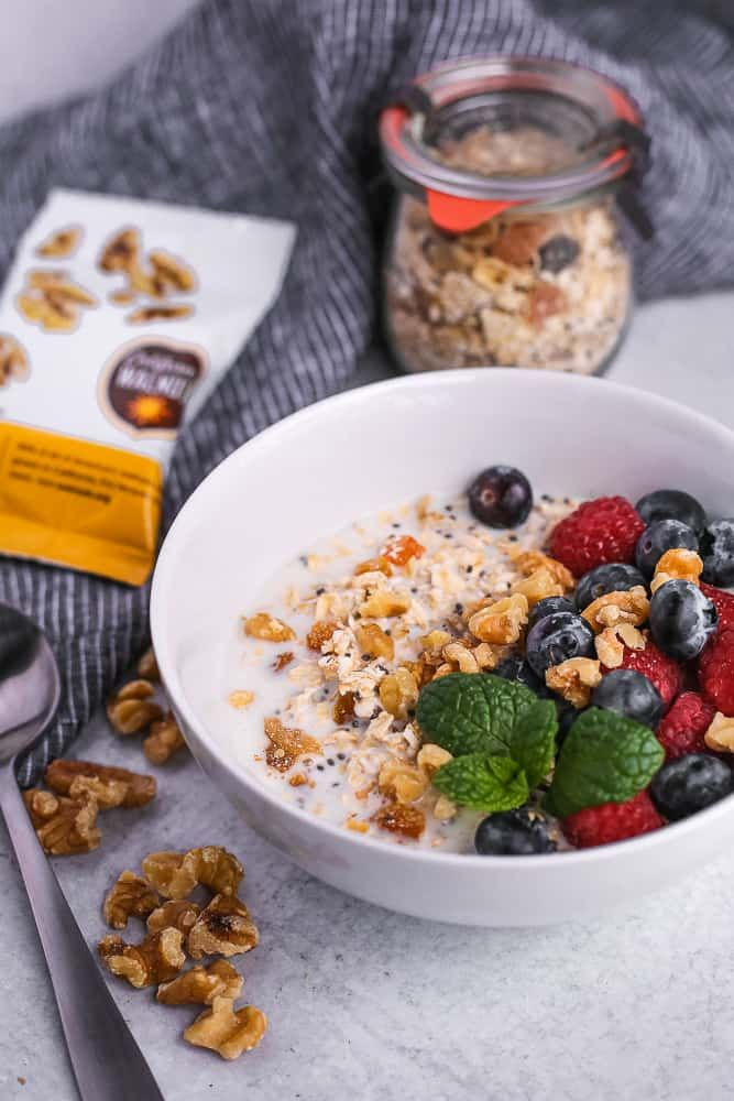Jun 12, 2020 – #ad This easy no-cook breakfast is a crowdpleaser! Enjoy this recipe for Homemade Muesli with California…