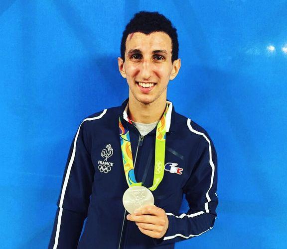 Sofiane Oumiha  médaillé d'argent en boxe aux JO de Rio 2016